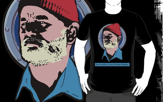 Steve Zissou (Bill Murray) by Rich Anderson