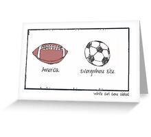Football. Greeting Card