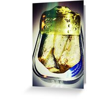 Sardines Product of Canada Greeting Card