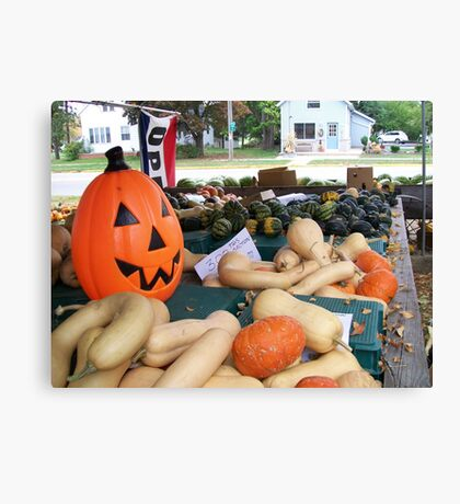 Fall Produce Farm Stand Canvas Print