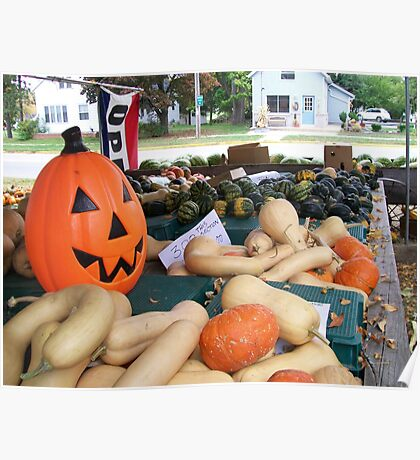 Fall Produce Farm Stand Poster
