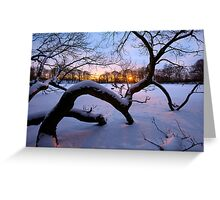 Sunset on the Ice Greeting Card