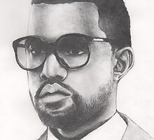 Pencil drawing of Kanye West by GillyArt