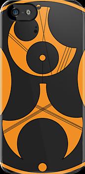 Bass Music Gallifreyan Iphone Case by cedavis8