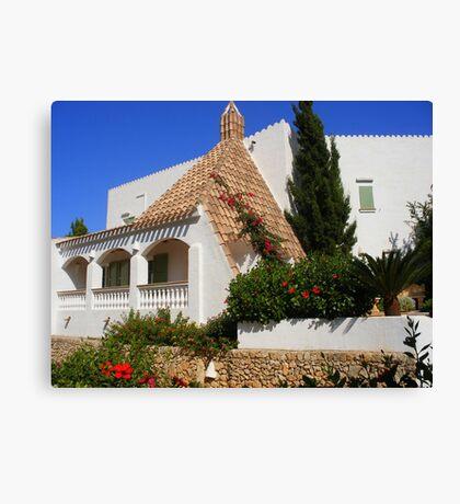 A House In Cala Galdana Canvas Print
