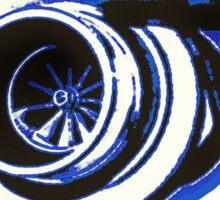 Blue Turbo Sticker