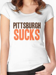 Cleveland Browns - Pittsburgh sucks - mix Women's Fitted Scoop T-Shirt