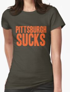Cleveland Browns - Pittsburgh sucks - orange Womens Fitted T-Shirt
