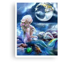 Me & the Moon Canvas Print