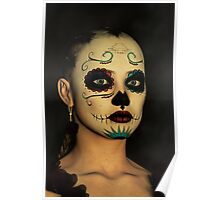 Sugar Skull - Day Of The Dead Face Paint Poster