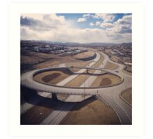 traffic bridge Art Print