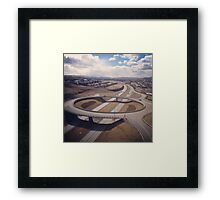 traffic bridge Framed Print