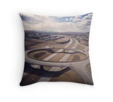 traffic bridge Throw Pillow