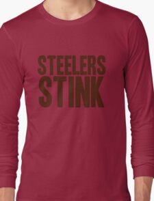 Cleveland Browns - Steelers stink - brown Long Sleeve T-Shirt