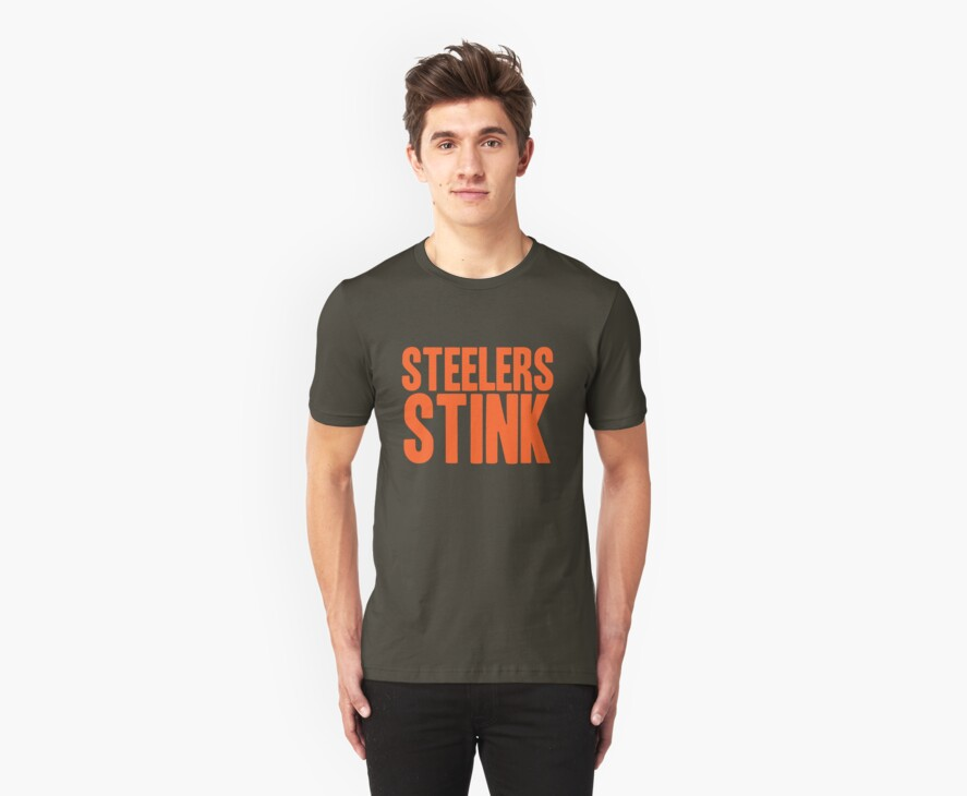 Cleveland Browns - Steelers stink - orange by MOHAWK99