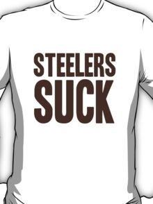Cleveland Browns - Steelers suck - brown T-Shirt