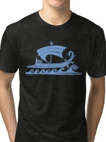 Ship (blue)  Tri-blend T-Shirt