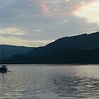 A boat in the loch... by BeefyTowers