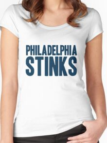 Dallas Cowboys - Philadelphia Stinks - Blue Women's Fitted Scoop T-Shirt