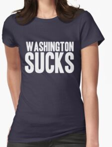 Dallas Cowboys - Washington Sucks - White Womens Fitted T-Shirt