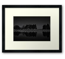 Tree Line at Night Framed Print