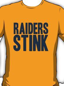 Denver Broncos - Oakland Raiders stink - blue T-Shirt