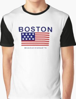 Boston Msaeachubaets Graphic T-Shirt