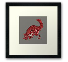Red Wolf Framed Print