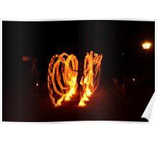 fire spinner Poster