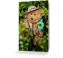 Mr. T. Bear On Holiday in The Rainforest!  Greeting Card