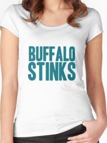 Miami Dolphins - Buffalo stinks Women's Fitted Scoop T-Shirt
