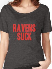 New England Patriots - Ravens suck Women's Relaxed Fit T-Shirt