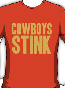 Washington Redskins - Cowboys stink - gold T-Shirt
