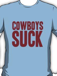 Washington Redskins - Cowboys suck - red T-Shirt