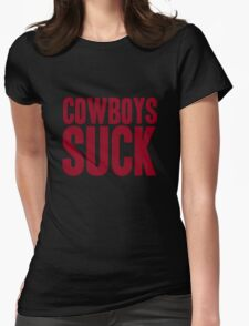 Washington Redskins - Cowboys suck - red Womens Fitted T-Shirt