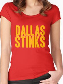 Washington Redskins - Dallas stinks - gold Women's Fitted Scoop T-Shirt