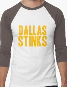 Washington Redskins - Dallas stinks - gold Men's Baseball ¾ T-Shirt