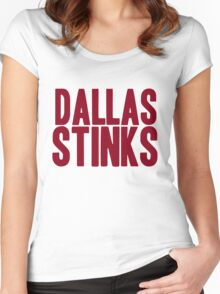 Washington Redskins - Dallas stinks - red Women's Fitted Scoop T-Shirt