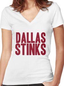 Washington Redskins - Dallas stinks - red Women's Fitted V-Neck T-Shirt