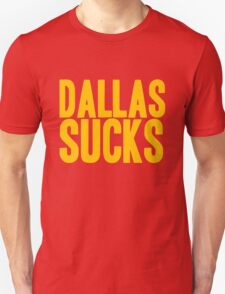 Washington Redskins - Dallas sucks - gold T-Shirt