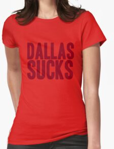 Washington Redskins - Dallas sucks - red Womens Fitted T-Shirt