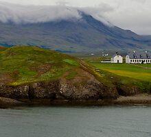 A Foggy, Rainy Day on the Coast of Iceland Near Reykjavik by Gerda Grice