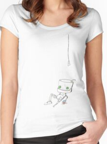 R-bot 01 Women's Fitted Scoop T-Shirt