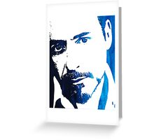 rdj in blue Greeting Card