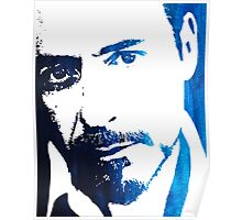 rdj in blue Poster