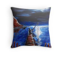 Fishing Forever Throw Pillow