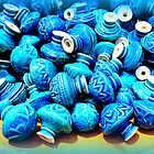 Blue pottery ceramic knobs by The Creative Minds
