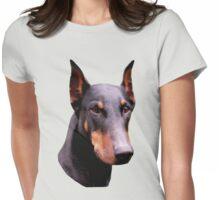 Pretty Black Doberman Pinscher Face  Womens Fitted T-Shirt
