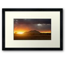 Sunset Burn Framed Print