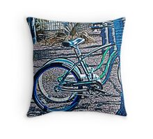 PSYCHEDELIC  BEACH  CRUISERS Throw Pillow